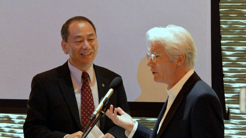 Lobsang Nyandak Zaul with Richard Gere